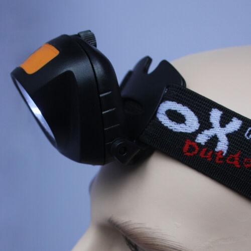 LED Stirnlampe Kopflampe Camping Outdoor 3 Funktionen beweglicher Leuchtkopf