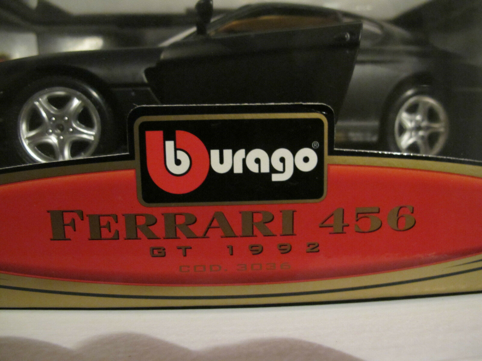 1 18 18 18 Ferrari 456 GT matt schwarz Bburago limitiert Nr. 19 von 200, NEU & OVP 54a346