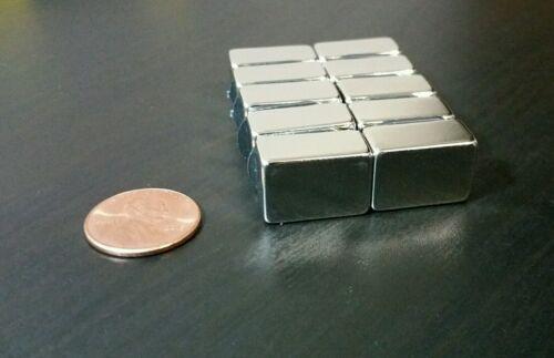 "5 Neodymium N52 Block Magnets Super Strong Rare Earth 3//4/"" x 1//2/"" x 3//8/"""