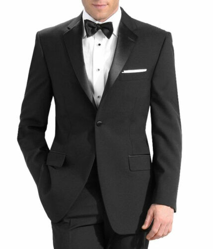 Prom Formal Wedding Men/'s Tuxedo with Flat Front Pants 54R Jacket /& 48 Pants