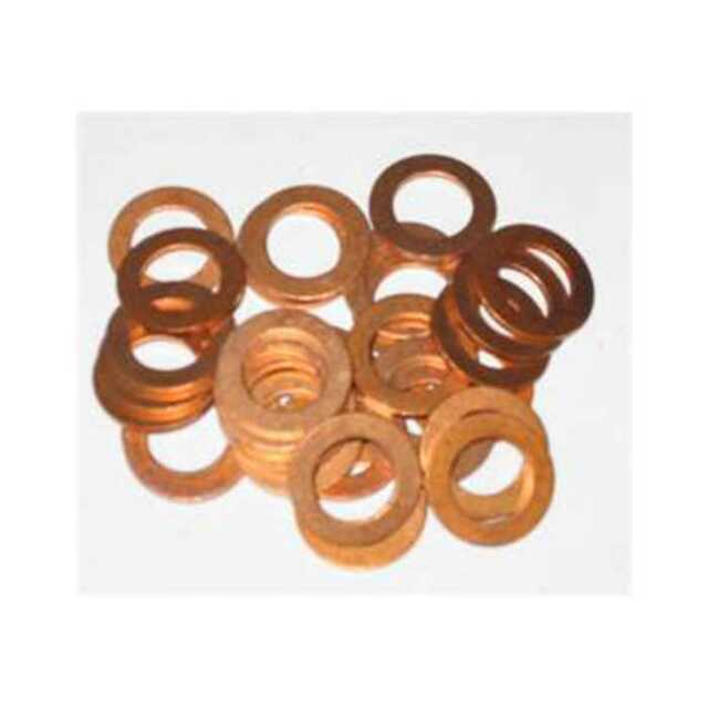 25 X 7MM COPPER SEALING WASHER M7 SEAL MOTORBIKE 7.0MM WASHERS OD 10MM    KW95