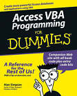 Access VBA Programming For Dummies by Alan Simpson (Paperback, 2004)