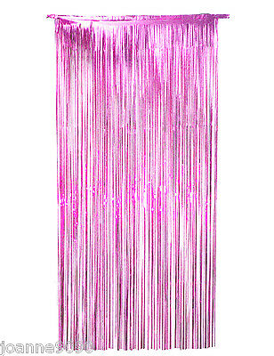*QUALITY SHIMMER FOIL DOOR CURTAIN COVER PARTY DECORATION METALLIC 91CM X 182CM*