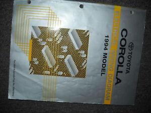 1994 Toyota Corolla Electrical Wiring Diagrams Shop Repair Service Manual  EWD | eBayeBay