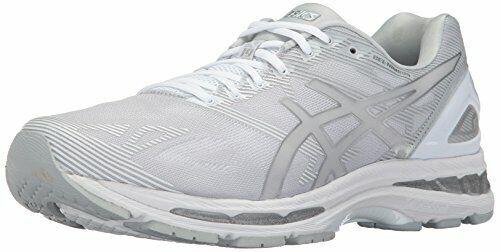 ASICS Para Hombre Gel-Nimbus 19 Running zapatos glaciar gris plateado blancoo 10.5 nos medio