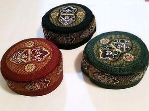 9fb6ac6c135 Turkish Cap topi Kufi skull Hat Muslim Islamic prayer Namaz Beanie ...