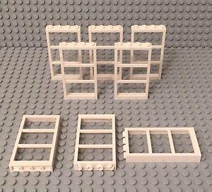 4x Genuine LEGO™ Window 1 x 4 x 6 Frame with 3 Panes 57894 46523 New Parts