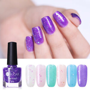 Ur Sugar Nail Polish Jelly Sequins Purple Glitter Nail Art Manicure