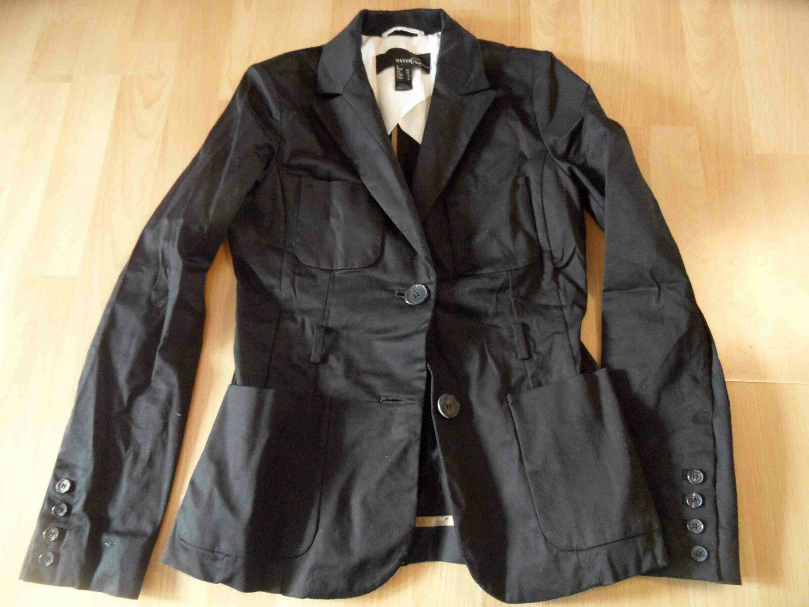MANGO schöner schöner schöner Blazer black Gr. 36 NEUw.  ZC616 1ce63f