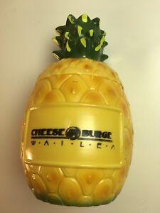 Ananas Buffet cheese burger wailea pineapple mug & coin bank maui hawaii tiki