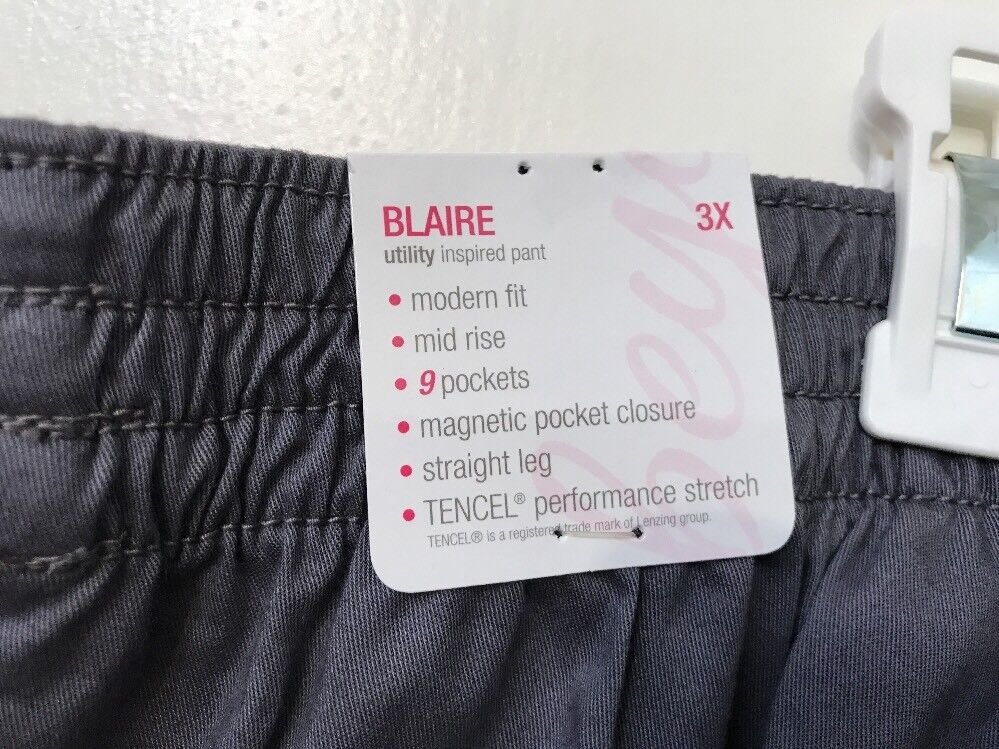 643afd8e126 Beyond Scrubs Blaire 9 Pocket Utility Inspired Scrub Pants Gray 3x for sale  online | eBay