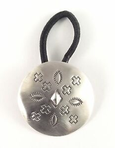 Image Is Loading Native American Sterling Silver Concho Navajo Indian Hair