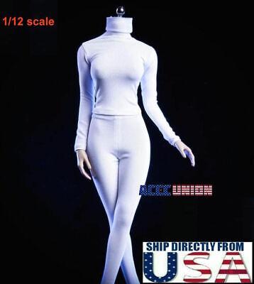 "1//6 Scale BLACK Female Tank Top for 12/"" FEMALE figure body"