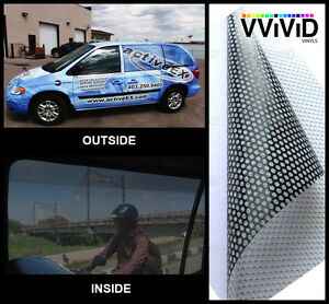Vvivid 15ft X 54 Quot Perforated One Way Vision Vinyl Printing