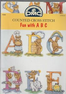 Counted-Cross-Stitch-Fun-with-ABC-bears-DMC-booklet