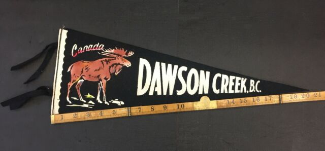 Dawson Creek BC Canada Vintage Felt Pennant Combine Shipping