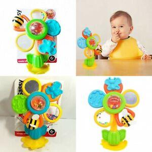 Sassy-Baby-Kid-Child-Rattle-Mirror-Spinning-Flower-Wonder-Wheel-High-Chair-Toy