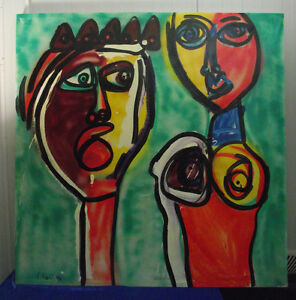 """Keil """"König mit weiblichem Halbakt"""", großes Ölgemälde, sign., datiert,1997,Nr.52"""
