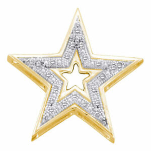 10k-Yellow-Gold-Womens-Round-Diamond-Simple-Star-Cutout-Pendant-1-20-Cttw