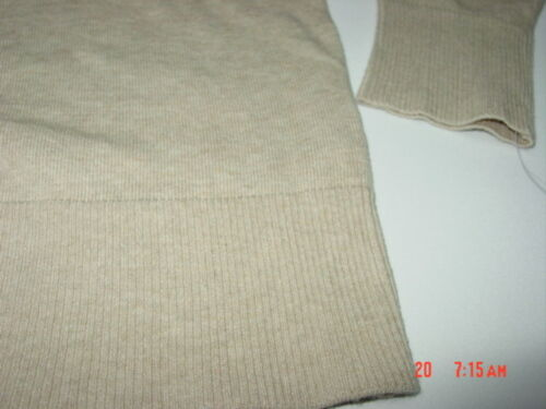 NWT Womens Classic Cardigan Beige Oatmeal Sophisticated Style Sweater Fashion