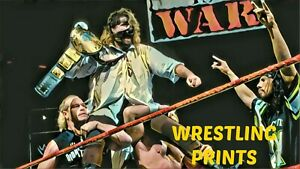 WWF WWE RAW IS RAW MANKIND A4 PRINT 230GSM RETRO POSTER WALL ART DEALS AVAILABLE