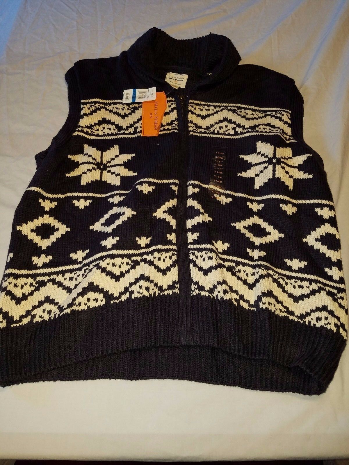 Field & Stream Original Outfitters Men's Sweater Vest Size XL--NWT