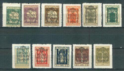 FIUME Rijeka 1924 - REGNO D'ITALIA MI.182/193 MNH SET plus PLATE ERROR