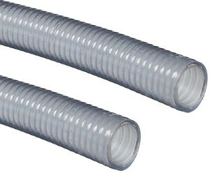 "Clear PVC Water Suction Hose Assembly 2"" X 15' with 2"" M&F Camlock Fittings"