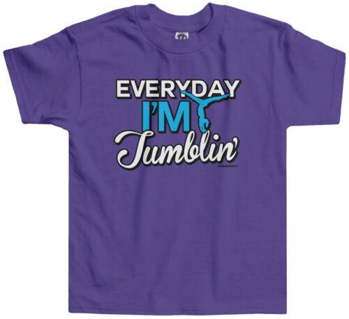 Threadrock Girls Everyday I/'m Tumblin Toddler T-shirt Gymnast Gymnastics