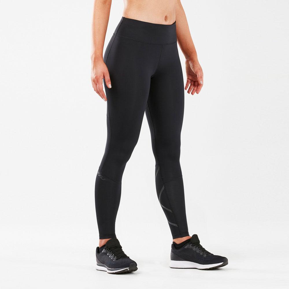 2xu 2xu 2xu Mujer Run Mid Rise Compresión Mallas Pantalones Negro Deporte Entrenar  gran venta