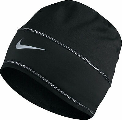 3a5c3577f NIKE Dri-Fit Run Flash black reflective beanie hat cap running jogging golf  NWT | eBay