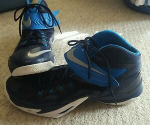 2f7ab84baec NIKE Lebron James Zoom SOLDIER VIII S-8 Blue Basketball Shoes Sz 17 ...