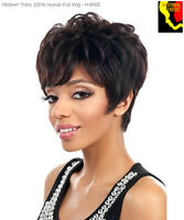 Motown Tress Bree 100% Human Hair Wig Short Wavy Pixie Fashion F4/27
