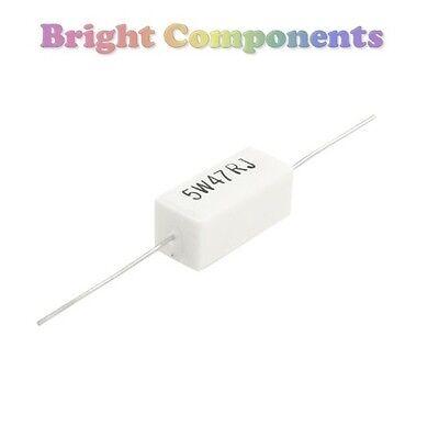 2 X 0.1 Ohm 5w Cement Resistor (0r1 Resistors) - 1st Class Post Keine Kostenlosen Kosten Zu Irgendeinem Preis