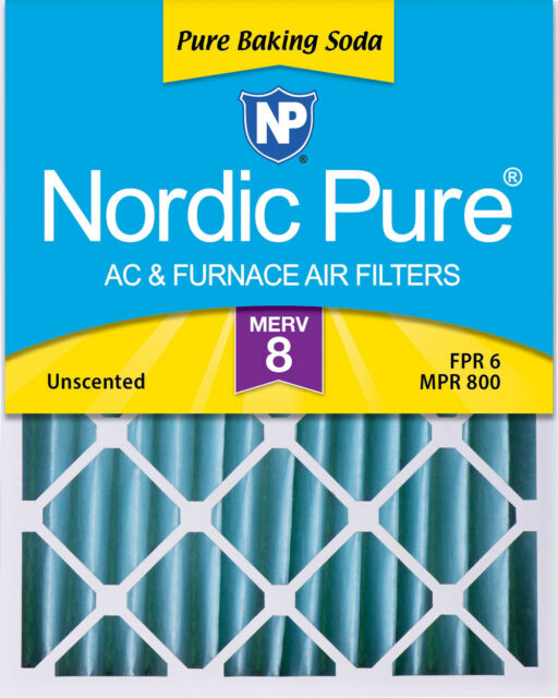 Nordic Pure 16x25x4 MERV 13 Plus Carbon Pleated AC Furnace Air Filters 1 Pack 3-5//8 Actual Depth