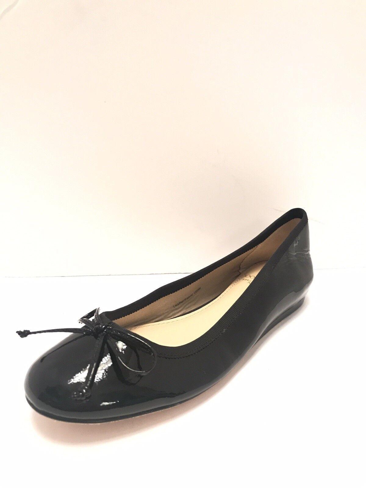 Retail  195 10022-schuhe Saks Fifth Avenue Patent Leather Bow Ballet Flats Sz 5