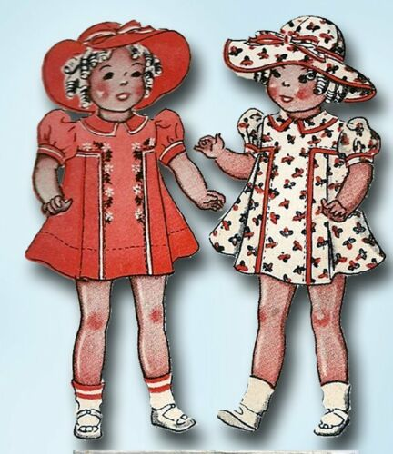 "1930s Vintage 22"" Sample Doll Clothes Uncut 1937 McCall Sewing Pattern ORIG"