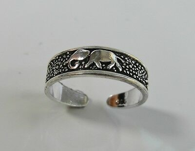 Sterling Silver In Short Supply 925 Adjustable Elephant Toe Ring ! Brand New !