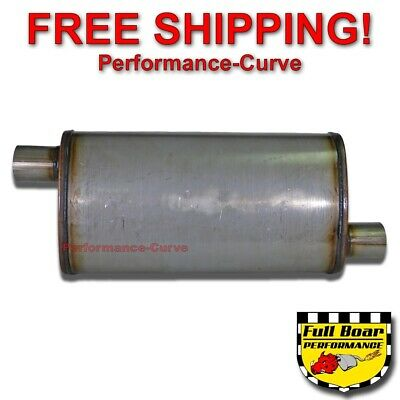 """Magnaflow Muffler 13269 Stainless Oval 3/"""" in 3/"""" out 18/"""" body 24/"""" long"""