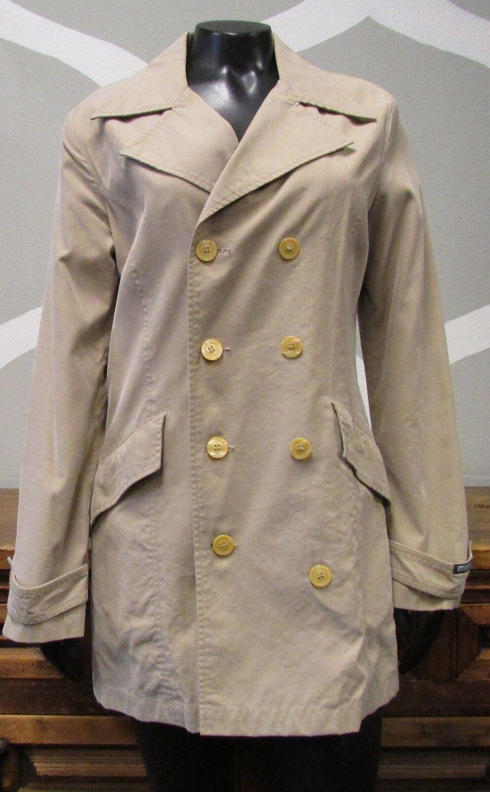 DIESEL Khaki Brown Double Breasted Coat - Medium