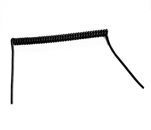 """0.128 SQMM * 7 Core 26awg en Espiral Negro PUR Cable de datos 250mm * Longitud de la bobina 10/"""""""