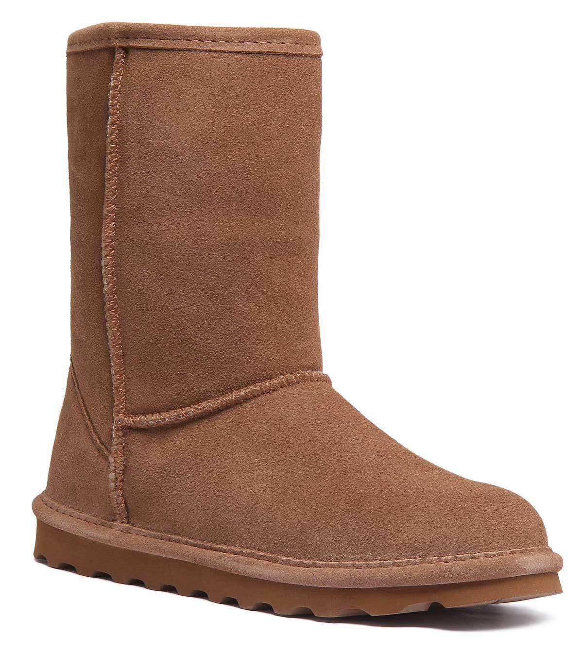 Bearpaw Elle damen Chestnut Suede Leather Ankle Stiefel UK Größe 3 - 8