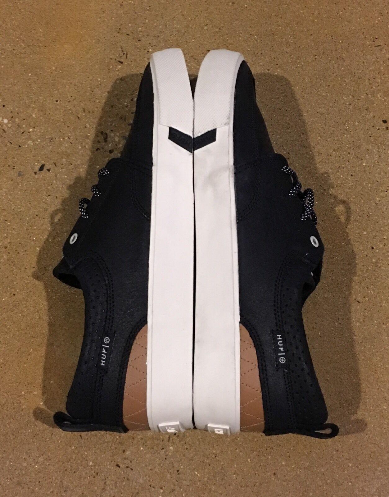 Huf Ramondetta Size 11 US Black Hide Peter Ramondetta Skate Shoes Sneakers