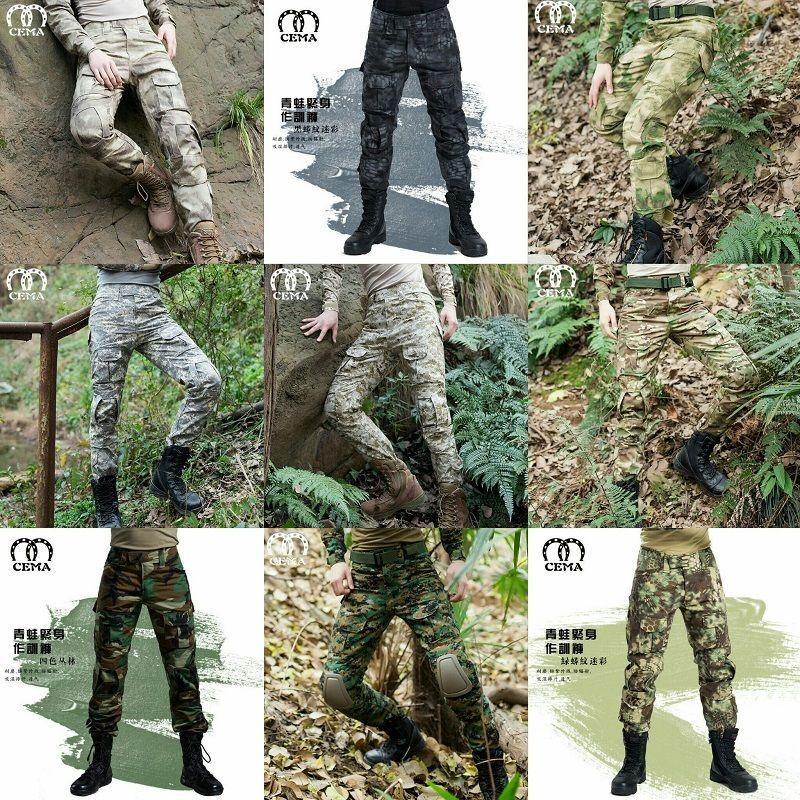 Men Outdoor Tactical Pants Army Military Combat Cargo Camo Combat Trousers2019