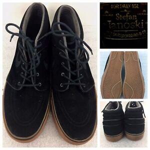 super cute temperament shoes popular brand Details about NIKE Stefan Janoski 443095-009 Black Suede Gum Tan Soles Mens  Shoe Size 13 US