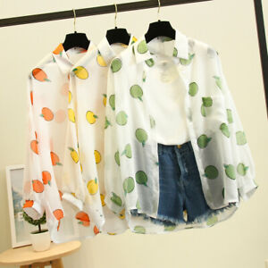 Women-Fashion-Long-Sleeve-Fruit-Print-Korean-Shirt-Casual-Loose-Sunscreen-Blouse