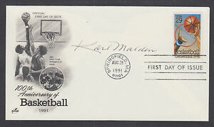 Karl Malden, American character actor, signed Basketball FDC