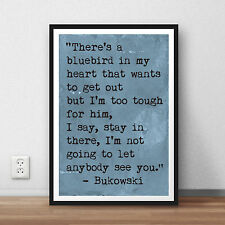 Charles Bukowski quote art print original poster print literary quote poster