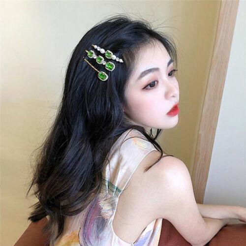 Womens Hair Clip Hairpin Pearl Crystal Barrette Stick Bobby Pin Hair Accessories