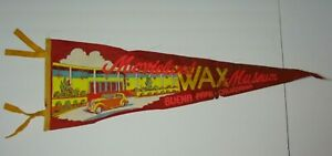 Large-27-034-Vintage-1950s-Movieland-Wax-Museum-Buena-Park-California-Car-Pennant